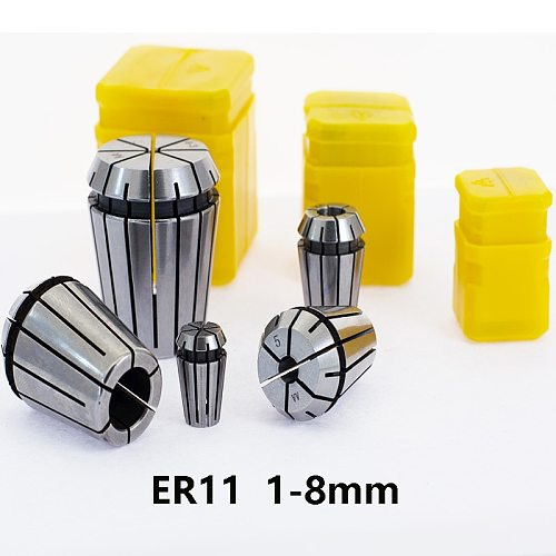 ER11 1mm 2mm 3mm 3.175 4mm 5mm 6mm 7 8mm CNC Machining Center, Carving Machine Precision Spring chuck Tool holder milling cutter