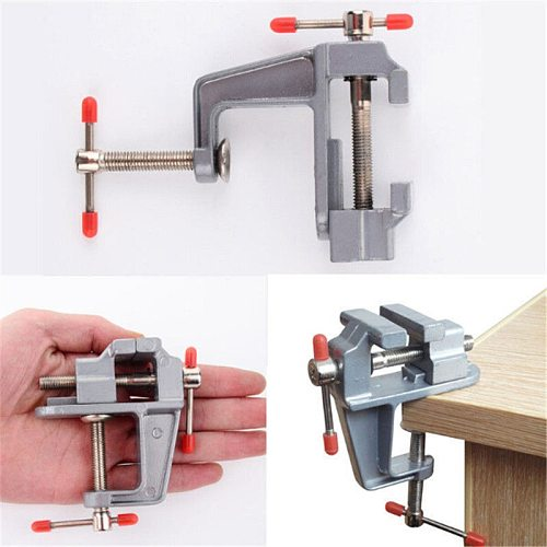 NEW Arrival 3.5  Aluminum Miniature Small Jewelers Hobby Clamp On Table Bench Vise Mini Tool Vice Muliti-Funcational