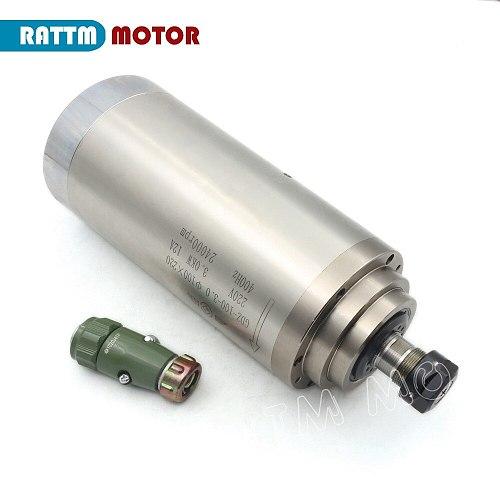 【Free VAT】 3KW Water-Cooled Spindle Motor ER20 CNC & 3kw Inverter VFD 220V & 100mm clamp & Water pump & pipes & 1set ER20 collet