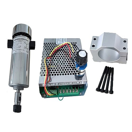 Air cooled 0.8kw Air cooled spindle ER11 chuck CNC DC110V 20000RPM 800W Spindle Motor + Power Supply speed governor For DIY CNC