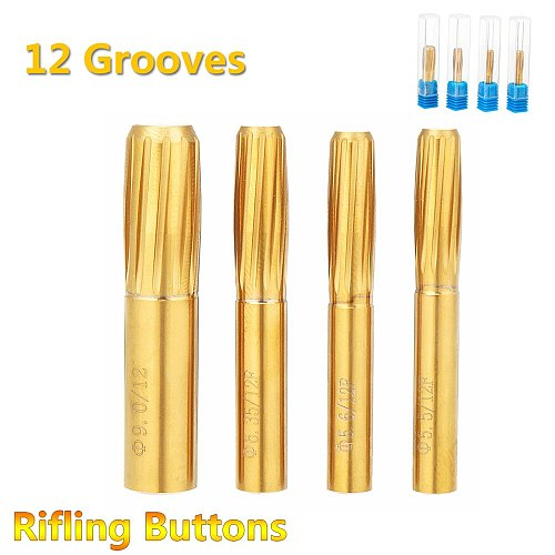 Rifling Button Reamer 12 Flutes 5.5mm 5.6mm 6.35mm 9.0mm Hard Alloy Chamber Helical Reamer Tool Machine Tool Accessories