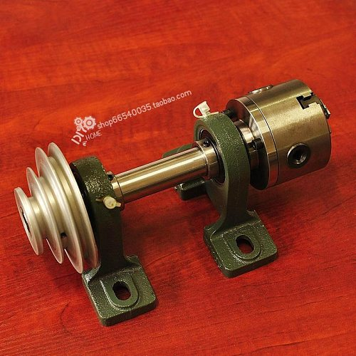80 spindle flange through hole 19mm hardened and hardened woodworking lathe spindle, woodworking beads,