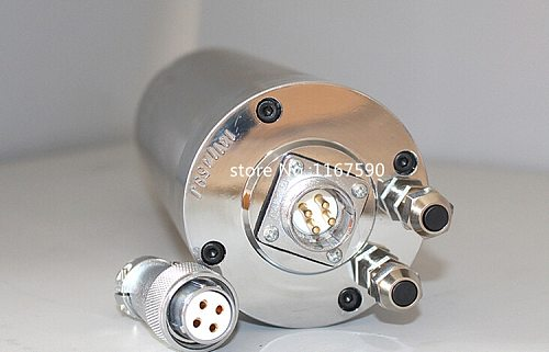 Good quality 3KW spindle motor 220V / 380V ER20 4 bearings 3000W 100x220mm engraving machine spindle motor