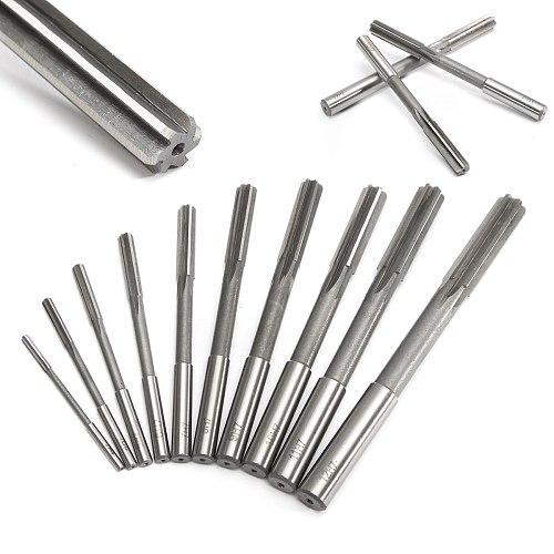 10PCS High Quality HSS H7 Straight Shank Milling Reamer Chucking Machine Cutter Precision Tool 3/4/5/6/7/8/9/10/11/12 mm