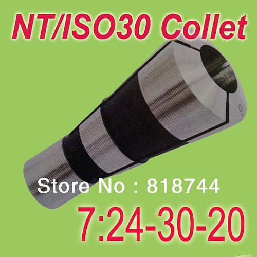Free Shipping 5PCS NT30/ISO30 7:24-30 Collet  Metric Size Any Size from 3 to 20 Suit for  Collet Chuck Holder