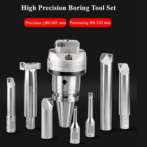 high Precision 0.005 NBH2084 boring head boring head NT40 CAT40 SK40 MTA4 LBK holder with 7Ppcs XBJ boring bars CNC boring tools