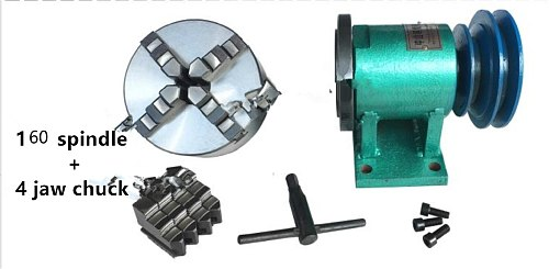 Lathe spindle assembly with flange connection plate transition plate 80/125/160/200 spindle three-jaw four-jaw chuck  160