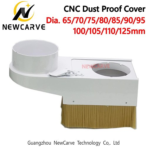 Detachable Dust Collector Proof Cover Diameter 65mm 70mm 75mm 80mm 85mm 90mm 100mm 105mm 110mm 125mm For CNC Router NEWCARVE
