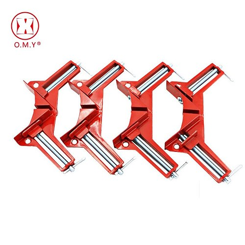 OMY 4pcs Style 90 Degrees Clamp Right Woodworking Frame Clamp DIY Glass