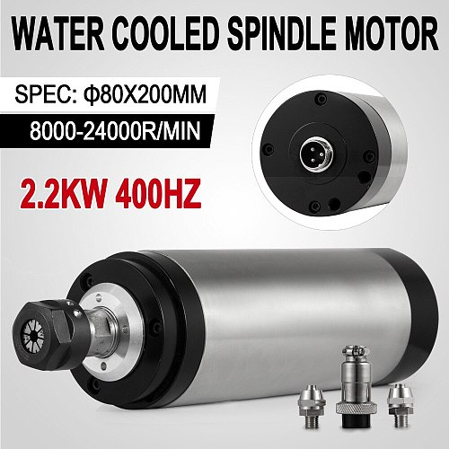 High Speed 2.2KW Water Cooled Spindle Motor Engraving Milling & Grinding