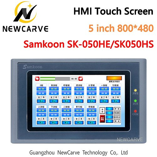 Samkoon SK-050HE SK-050HS HMI Touch Screen 5 Inch 800*480 USB Host Ethernet Human Machine Interface Display Newcarve