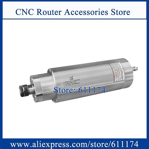 low Speed 1200-9000rpm 3KW Water Cooled spindle motor AC220V CNC Milling and drilling spindle