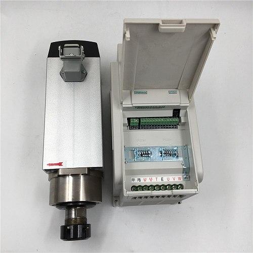 2.2KW Air cooled CNC Engraving Spindle Motor Kit ER25 4 Bearings + 2.2KW 220V VFD Drive Inverter for CNC Router