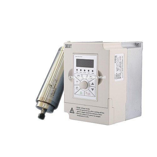 1.5kw water cooled spindle motor ER11 collet D65mm L210mm AC220V & 1.5kw 220v BEST VFD Inverter Variable Frequency Drive