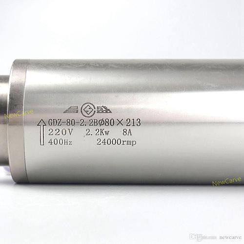 CNC Spindle Motor 2.2KW 220V 380V 4 Bearing Water Cooled Spindle ER20 With 80mm Diameter GDZ-80-2.2b Newcarve
