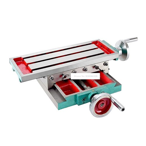 SZ3517 Upgraded Cross Slide Table High-precision Cross Slide Drill Slide Table For Drilling Milling Machine 450*170 (With Ruler)