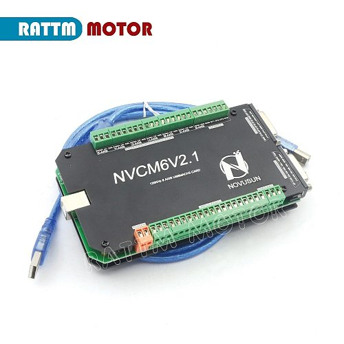 USB Mach3 CNC Controller accessories NVCM 6V2.1 Motion Card 200KHZ for CNC Router Stepper Motor Servo motor