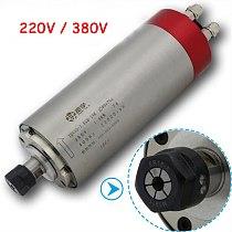 Electric spindle ER16 high-speed water-cooled engraving machine spindle motor 4 bearing engraving machine 220v / 380v 1500W