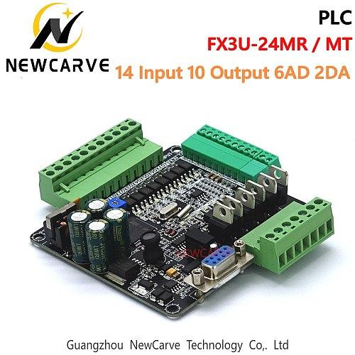 FX3U-24MT FX3U-24MR PLC Industrial Control Board 14 Input 10 Output 6AD 2DA With RS485 Communication NEWCARVE