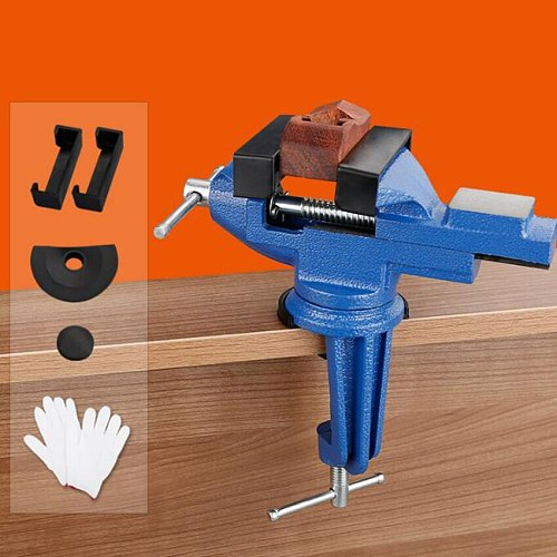 80mm Heavy Table Vise Bench Vice Universal Vise Desktop Vise Multifunctional 360 degree clamp fixture