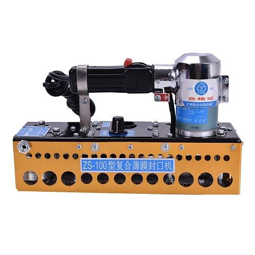 wholesale Portable continuous plastic bag sealing machine+ZS-100 manual chain compound film bag sealer 1pc