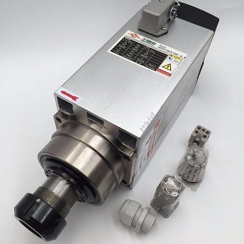 CNC Router Milling 4.5KW Air-cooled ER32 Spindle Motor 18000rpm 220V 380V Square Electric Spindle Motor Woodworking