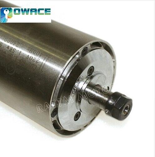 1.5KW Quality Air Cooled Spindle ER11 220V Runout-off  0.01mm Spindle motor 80mm 4 Ceramic bearing Engraving Milling Grind