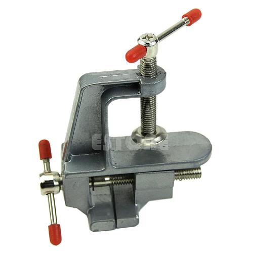 3.5  Aluminum Miniature Small Jewelers Hobby Clamp On Table Bench Vise Tool Vice Drop Ship