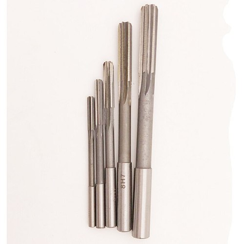 5pcs/set High speed steel straight shank machine reamer 4mm 5mm 6mm 8mm 10mm H7 high quality chucking reamer