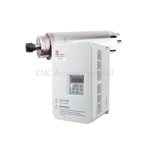 4.5KW D100*300mm AC220V/380V Water cooled spindle motor & 5.5kw VFD Inverter