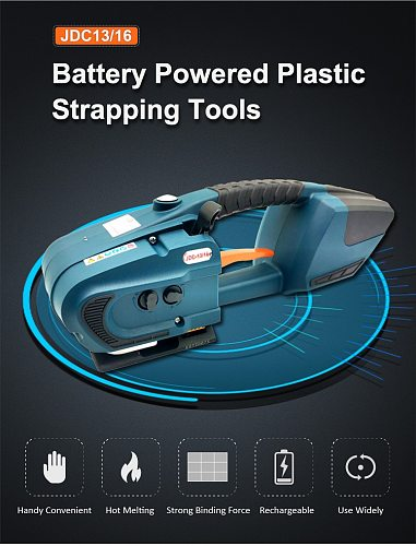 Portable Electric PP/PET Strap Strapping Machine Rechargeable Battery 13mm-16mm
