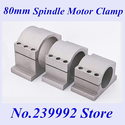 NEW 80mm 62mm spindle motor bracket seat cnc carving machine clamp motor holder cast aluminum 80mm spindle motor