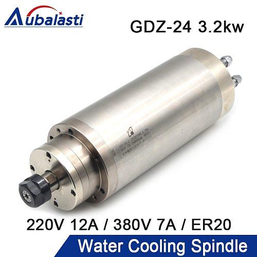 HQD CNC Spindle Motor 1.5kw 2.2kw 3.2KW ER11 ER20 220V 380V Water Cooling Spindle D80 D100mm For CNC Router Machines