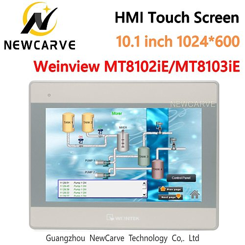 WEINVIEW MT8102iE MT8103iE HMI Touch Screen 10.1Inch 1024*600 Human Machine Interface Replace WEINTEK MT8101iE MT8100iE NEWCARVE
