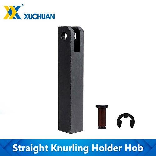 Straight Knurling Holder Hob Steel Lathe Tool Holder Hob  Gear Shaper Cutter 18mm Straight Linear Knurling Tool Single Whee
