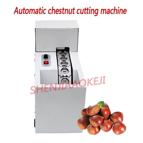 Automatic chestnut cutting machine  Chestnut opening machine 50kg per/hour Chestnut mouth incision machine 1pc