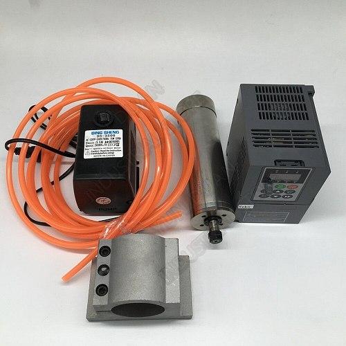 Changsheng 2.2KW 3hp 220v 24000rpm ER20 1-13mm Water Cooled Spindle Motor VFD pump 80mm Clamp kit CNC Router woodworking