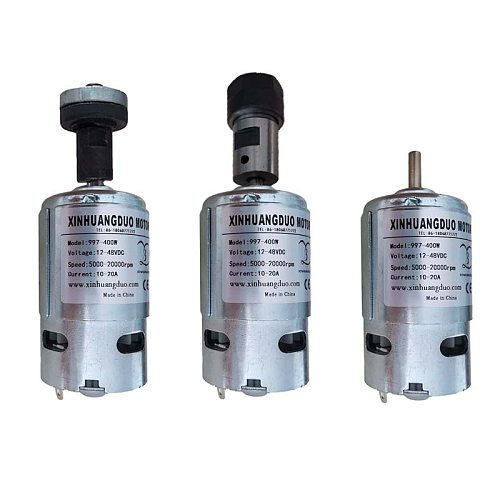 High Speed Motor Silent Ball Bearing Motor 997 Powerful DC Motor Input Voltage DC12-48V max speed 20000rpm