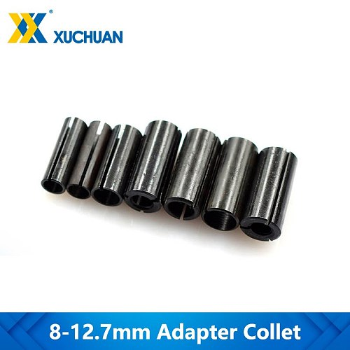 1pc Adapter Collet 8-6/ 8-6.35/ 9.5-6.35/10-8/12-6 8 10/12.7-6 6.35mm CNC Router Tool Adapter Holder