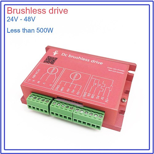 DC 24V-48V Brushless Motor Spindle Drive BLDC Match MACH3 for CNC Engraving Mechanical Drive power Less than 500W
