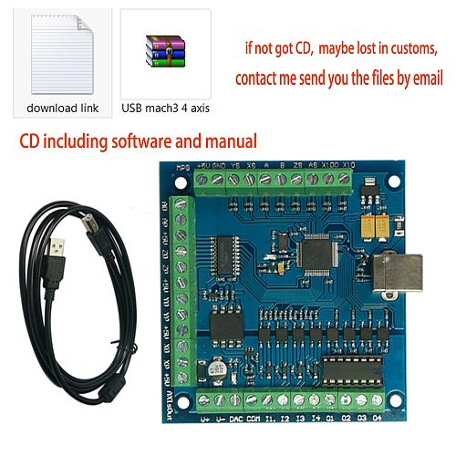 CNC MACH3 USB 4 Axis 100KHz USB CNC Smooth Stepper Motion Controller card breakout Control board for DIY Mini CNC Engraving Mach