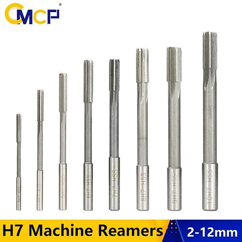 1pc H7 Chucking Reamer High Speed Steel Sraight Shank Reamer 2mm/3mm/4mm/5mm/6mm/7mm/8mm/9mm/10mm/11mm/12mm Machine Reamer