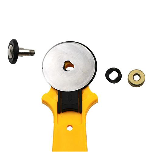 45mm Hob Cloth Cutting Cutter Manual Patchwork Tool Leather Wallpaper Round Roller Cutter Set with Non-slip Handle