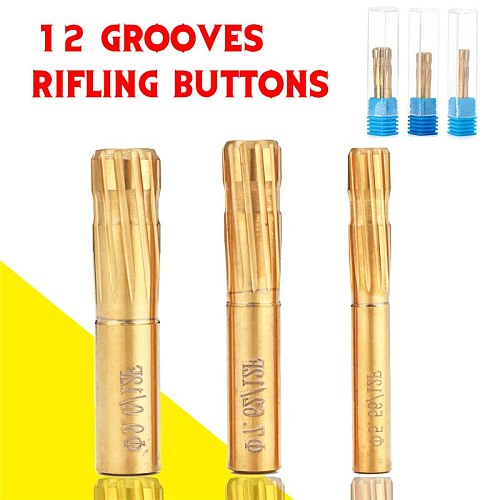 12 Grooves Flutes Reamer 5.56-9cm Push Rifling Button Chamber Milling Cutter Reamer Precision Double Layer Blade Machine Tool