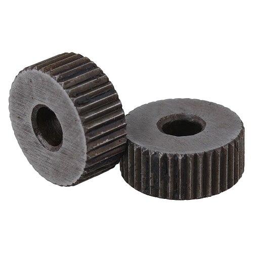 2PCS 19x8mm Single Straight Knurling Tool 1.5mm Pitch Linear Knurl Wheel