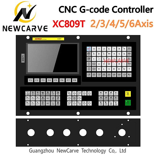 XC809T 2/3/4/5/6 Axis Multifunctional Lathe Controller with Tool Magazine supports G-code ATC FANUC Digital Spindles NEWCARVE