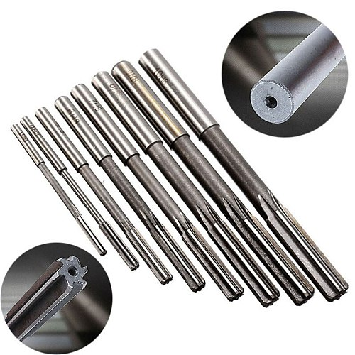 8pcs/set Straight Shank Machine Ramer HSS H8 Chucking Reamers Set Cutter Tool 3/4/5/6/7/8/9/10mm