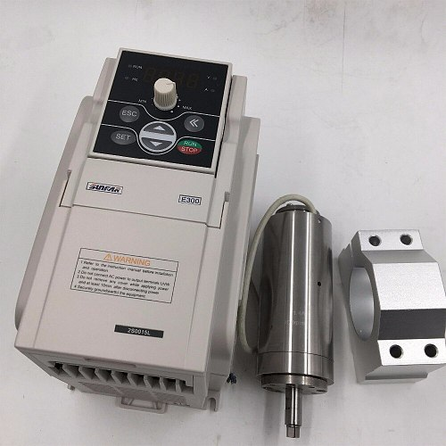 95W AC36V Spindle Motor 20000~60000rpm + 1.5KW VFD Inverter + D48mm Bracket CNC Engraving Machine Spindle Kit
