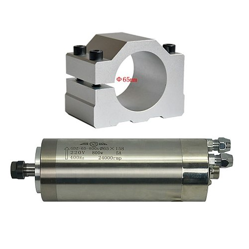 800W 0.8KW 1.5KW 2.2KW 65mm*158mm CNC Spindle Motor Z Axis Shaft 65MM 80MM Clamp Holder for Router Engraving Machine