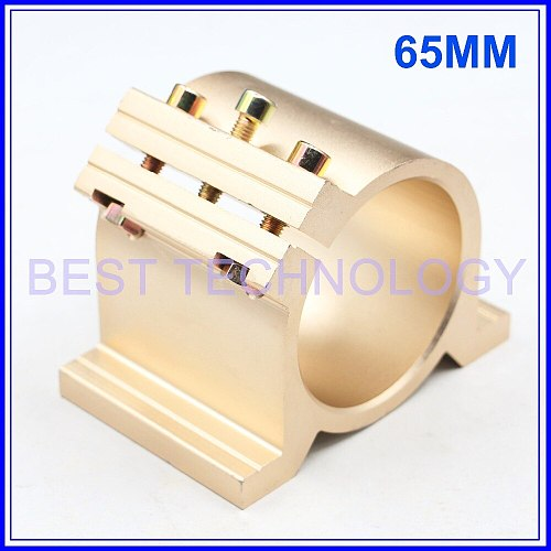 Gold Type 65 mm Fixture CNC Spindle Motor Clamping Bracket  cnc machine tool spindle motor 65mm mount bracket,  Gold Type !!